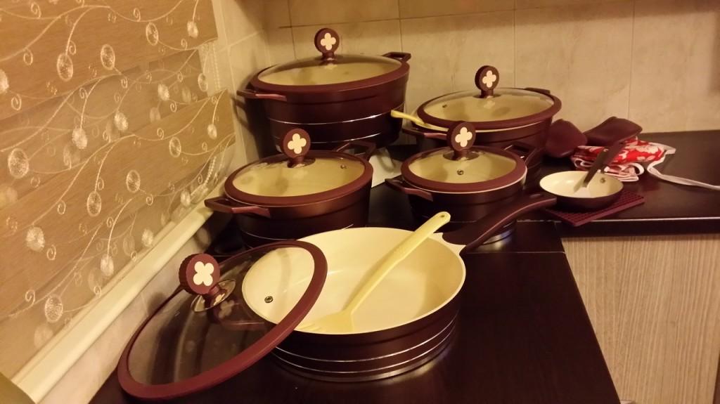 سرویس پخت و پز قابلمه سرامیکی ۱۸ پارچه سزار