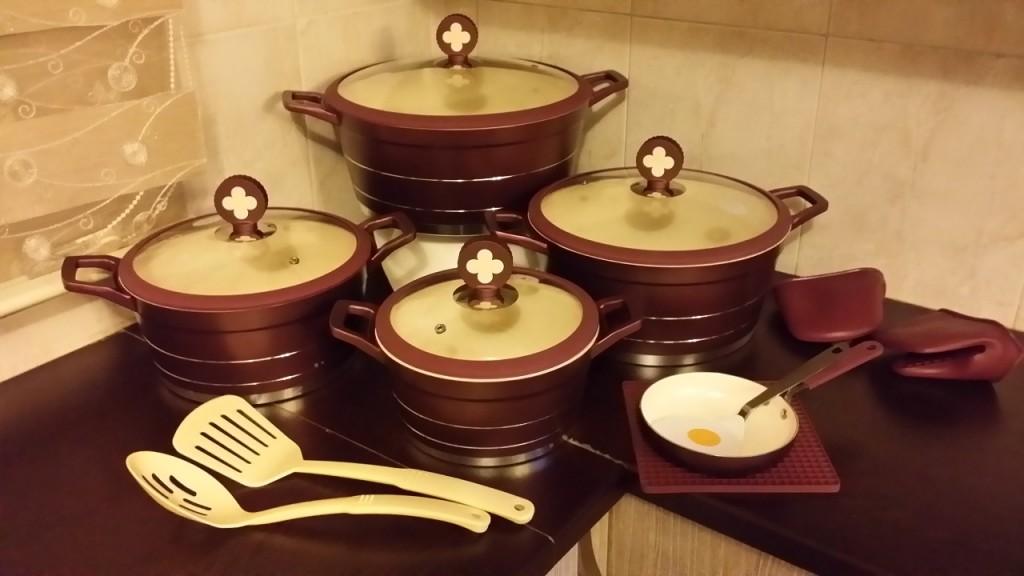 سرویس پخت و پز قابلمه سرامیکی ۱۶ پارچه سزار
