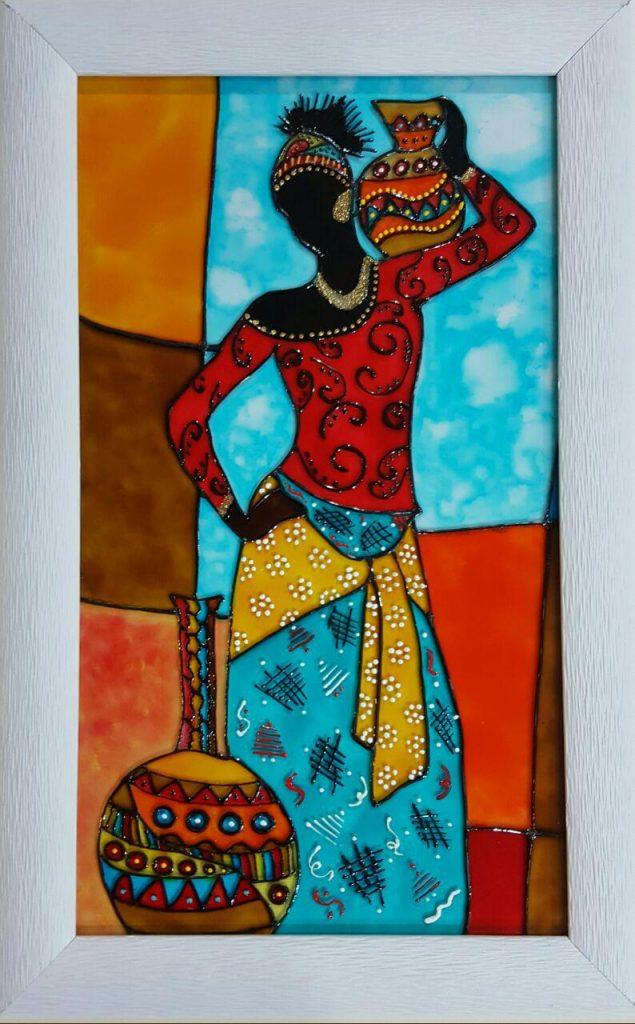 تابلو ویترای - طرح زن آفریقایی