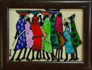 تابلو ویترای - طرح زنان آفریقایی