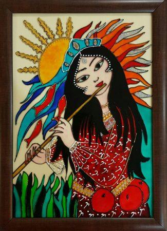 تابلو ویترای - طرح خاتون و خورشید