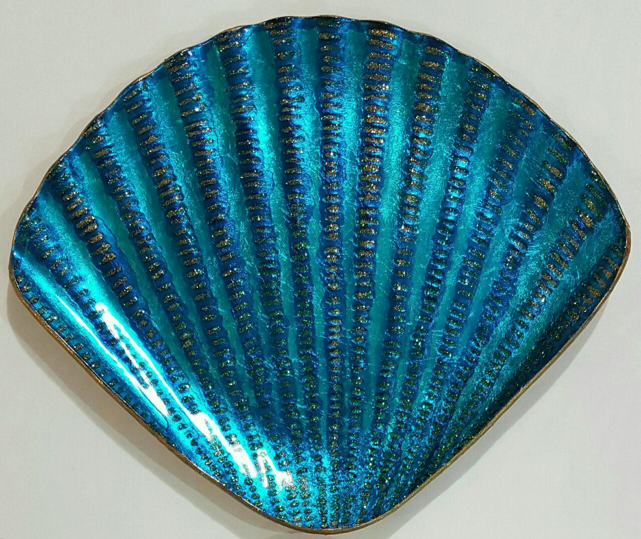 پیش دستی شیشه ای - طرح صدف